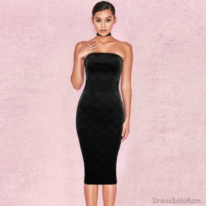 fdb4d86bbb Custom   Wholesale Sexy Cheap Strapless Bandage Dress Online ...