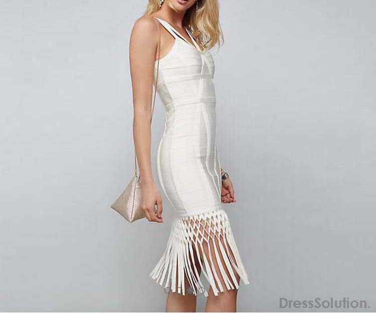 610518515184 Click to enlarge. HomeBandage Bodycon DressSexy Bandage Dress Best Sexy  Bandage Bodycon Dress Tank Tassels White MZH18240P1251